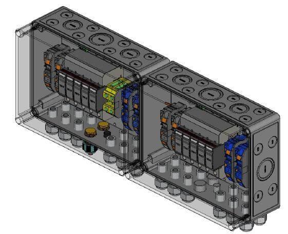 Phoenix contatto protezione da sovratensione CC Tipo II, 4 MPP, terminali