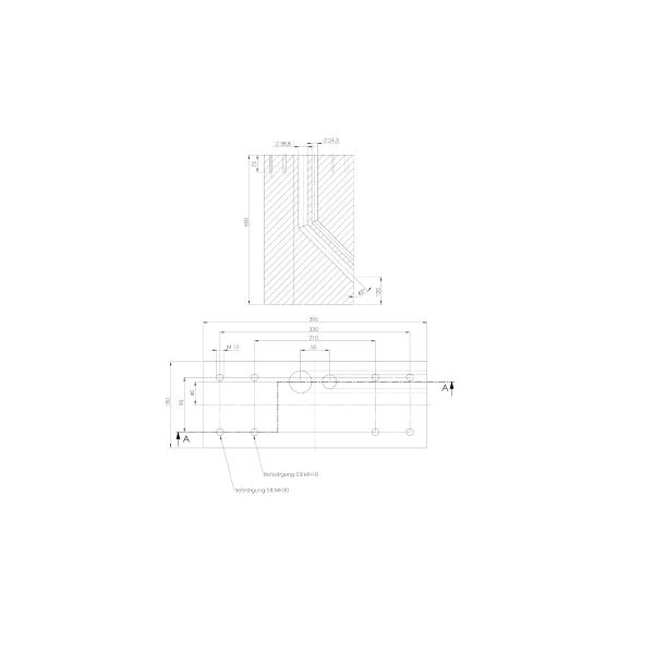 ABL Betonfundament für Stele STEMH10 / STEMH30