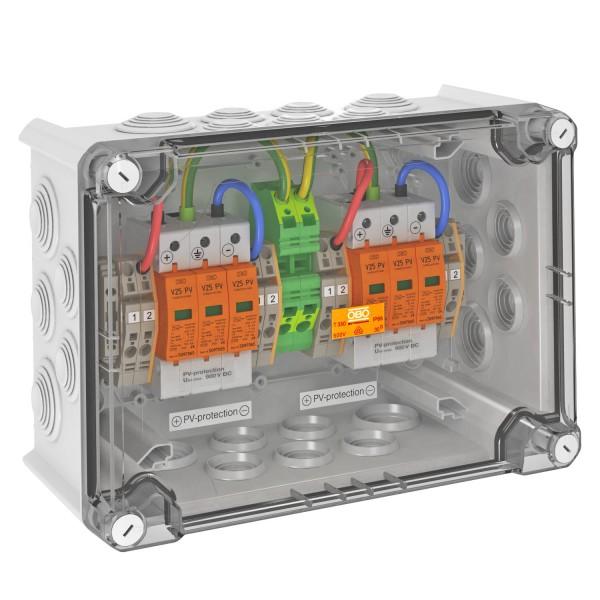 Scatola di sovratensione OBO DC Tipo I+II, 2 MPP, terminali