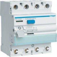 Interruttore differenziale Hager corrente residua 40A, 4 poli, 30 mA, tipo A