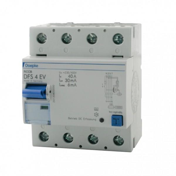 Scatola a parete interruttore automatico di protezione per correnti di guasto Doepke DFS4 040-4/0,03-EV