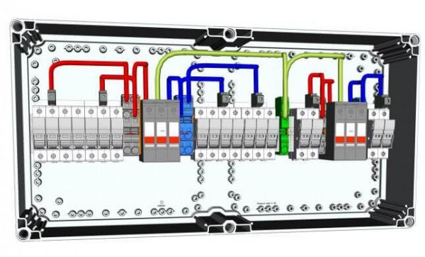 Combinatore HISbox DC 2MPPT, 3 stringhe, 15A