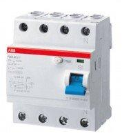 Interruttore differenziale ABB corrente residua 40A, 4 poli, 30 mA, tipo A