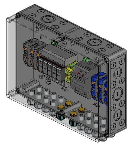 Phoenix contatto protezione da sovratensione CC Tipo II, 3 MPP, terminali