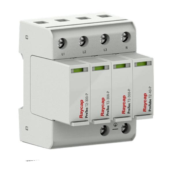 Protezione da sovratensione Raycap AC guida DIN tipo II TN-S/ TT