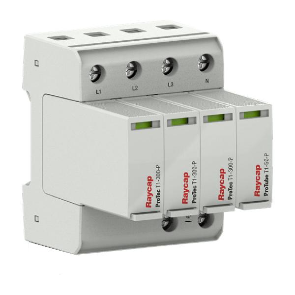 Protezione da sovratensione Raycap AC guida DIN tipo I+ II TN-S/ TT